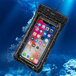 Baseus IPX8 Air Cushion Waterproof Case Bag for Mobile / iPhone - Black